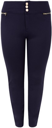 New Look Curves Button Front Slim Trousers