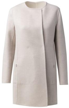 Akris Reversible Wool & Silk Car Coat