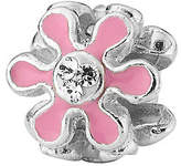 Swarovski Prerogatives Sterling Pink Flower with Crystal Bead