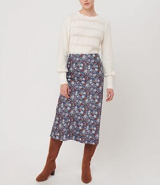 LOFT Petaled Pull On Midi Skirt