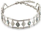 Lydell NYC Silvertone Crystal Diamond-Station Choker Necklace
