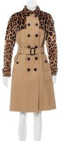 Burberry Mink-Accented Trench Coat w/ Tags