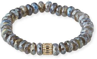 Sydney Evan 14k Mixed-Cut Diamond Labradorite Bracelet