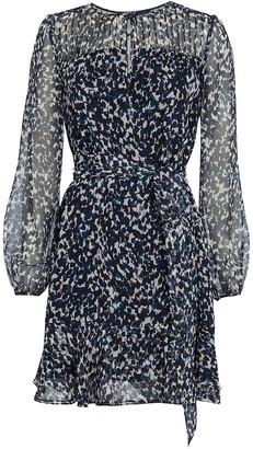 Intermix Paige Printed Silk Dress