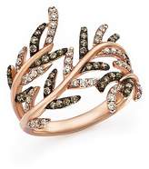 Bloomingdale's White Diamond and Brown Diamond Ring in 14K Rose Gold