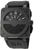 Bell & Ross Men's BR01-92COMPASS Aviation Rubber Strap Dial Watch
