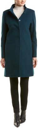 Cinzia Rocca One-Button Wool & Cashmere-Blend Coat