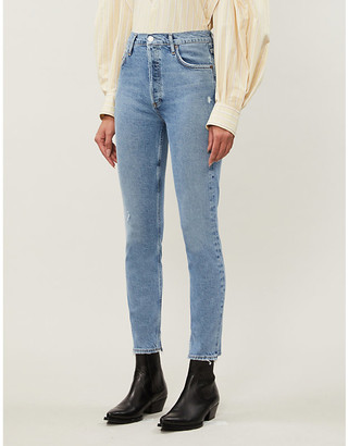 AGOLDE Nico high-rise distressed skinny jeans