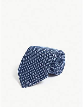 Pal Zileri Geometric circle pattern silk tie