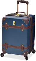"London Fog Closeout! Retro 20"" Carry On Expandable Spinner Suitcase"