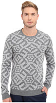 Ted Baker Jakgee All Over Jacquard Long Sleeve Crew Neck