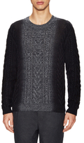 Vince Wool Cashmere Lux Marled Cable Stitch Sweater