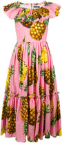 Dolce & Gabbana pineapple print dress - women - Cotton - 40