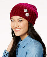 Echo Ombre Embellished Slouchy Beanie