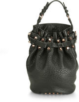 Alexander Wang Women's Diego Pebble Leather Bag Black with Rose Gold Hardware