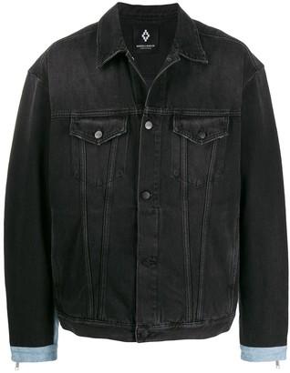 Marcelo Burlon County of Milan distressed denim jacket