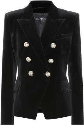 Balmain Embellished velvet blazer