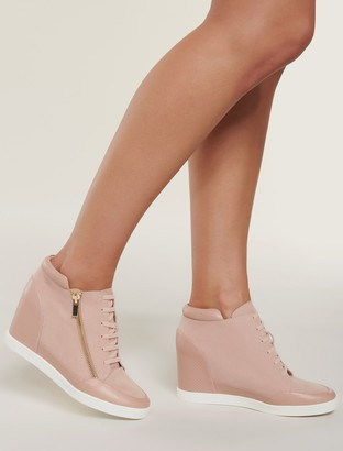 Forever New Adriana Wedge Trainer - Blush - 38