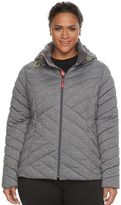 Tek Gear Plus Size Hooded Packable Puffer Jacket