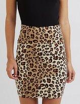 Charlotte Russe Leopard Bodycon Mini Skirt
