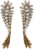 Balenciaga Gold and Crystal Laurier Twist Earrings