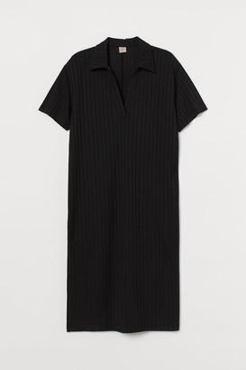 H&M H&M+ Ribbed Dress - Black