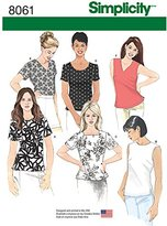 "Simplicity 8061K5 ""Misses Tops"" Sewing Pattern, Paper"