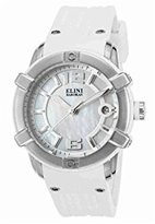 Elini Barokas Women's 'Spirit' Swiss Quartz Stainless Steel and Silicone Watch, Color:White (Model: 20005-02-WHT)