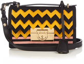 Salvatore Ferragamo Aileen small leather and suede cross-body bag