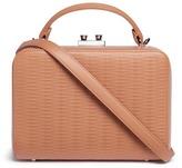 Rodo Basketweave effect leather box bag