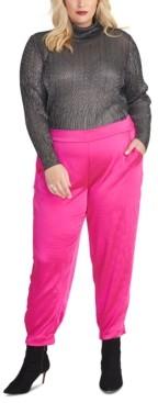 Rachel Roy Plus Size Metallic Turtleneck Sweater