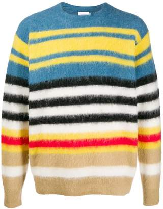 Calvin Klein striped intarsia jumper
