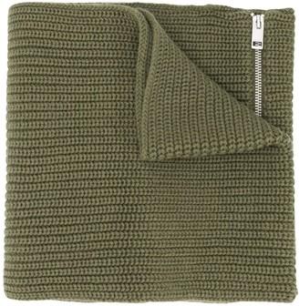 Diesel K-Angle zip-detail scarf