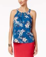 Thalia Sodi Printed Cutout Top, Only at Macy's