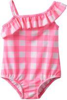 Carter's Baby Girl Gingham Asymmetrical-Neck Swimsuit