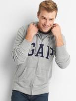 Gap French terry logo zip hoodie