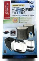 Sunbeam Cool Mist Humidifier Filter Type D (SF221)(Value Pack-2 Filters In Box)
