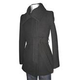 Searle, Envelope collar belted zipper coat
