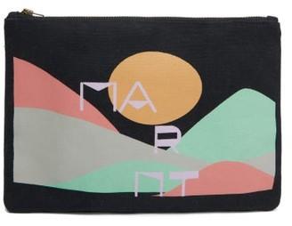 Isabel Marant Logo-print Canvas Pouch - Womens - Black Multi