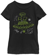 Fifth Sun Black 'No Service?' Crewneck Tee - Girls
