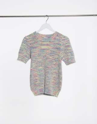 Vila short sleeve jumper in multi