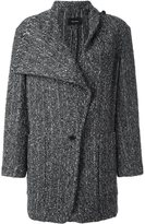Isabel Marant 'Hondo' roll collar coat - women - Cotton/Polyester/Viscose/Alpaca - 42