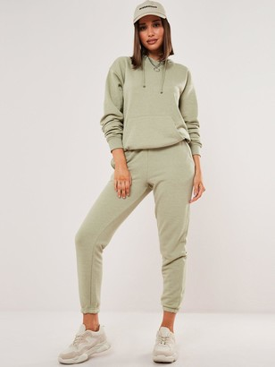 Missguided Co-Ord Hoodie & Jogger Set - Mint