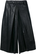 Maison Margiela flared cropped trousers - women - Cotton/Polyurethane/Viscose - 36
