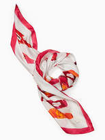 Kate Spade Hot sauce silk square scarf