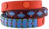 Tory Burch Leather Stitched Triple Wrap Bracelet