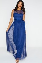 Little Mistress Delphi Sweetheart Mesh Maxi Dress