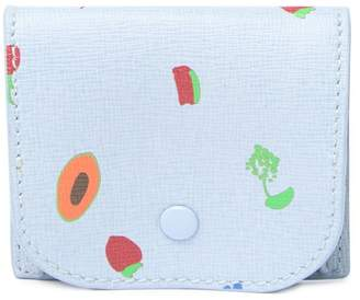 Coccinelle Fruit Print Leather Mini Coin Pouch