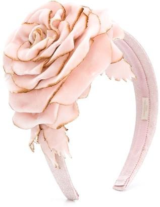 MonnaLisa Flower Bud applique head band