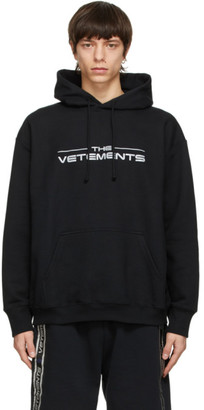 Vetements Black The Logo Hoodie